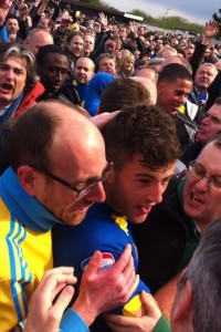 jon meades mobbed on final day