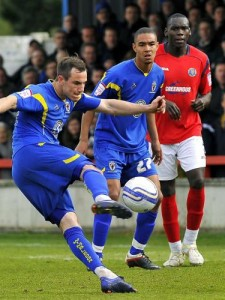 luke moore scores Shrews