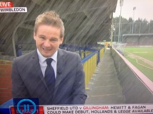 Neal Ardley gets soaked
